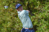 Chase Wright (USA) watches his tee shot on 1 during day 1 of the Valero Texas Open, at the TPC San Antonio Oaks Course, San Antonio, Texas, USA. 4/4/2019.<br /> Picture: Golffile | Ken Murray<br /> <br /> <br /> All photo usage must carry mandatory copyright credit (© Golffile | Ken Murray)