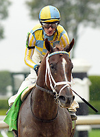 Lexington KY - October 8 Flameaway wins the 27th running of the Dixiana Bourbon (Grade 3) for owner John Oxley, trainer Mark Casse and jockey Julien Leparoux.  October 8, 2017