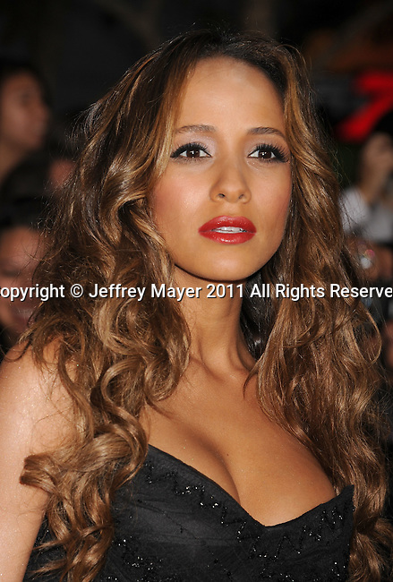 """LOS ANGELES, CA - NOVEMBER 14: Dania Ramirez arrives at the Los Angeles premiere of """"The Twilight Saga: Breaking Dawn Part 1"""" held at Nokia Theatre L.A. Live on November 14, 2011 in Los Angeles, California."""