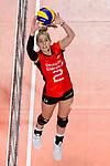 25.08.2018, …VB Arena, Bremen<br />Volleyball, LŠ&auml;nderspiel / Laenderspiel, Deutschland vs. Niederlande<br /><br />Zuspiel Pia KŠstner / Kaestner (#2 GER)<br /><br />  Foto &copy; nordphoto / Kurth