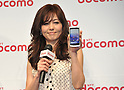 February 24, 2011 - Tokyo, Japan - Actress Mako Ishino shows NTT Docomo's new smartphone, the Medias, during a press conference where the company unveils three new smartphone models: the XPERIA, the Medias and the Optimus.(Photo by Koichi Mitsui/AFLO)