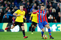 James McArthur of Crystal Palace on the ball during the EPL - Premier League match between Crystal Palace and Watford at Selhurst Park, London, England on 12 December 2017. Photo by Carlton Myrie / PRiME Media Images.