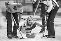 Glasgow. SCOTLAND. Russia's, Galina ARSENKINA, during the   &quot;Round Robin&quot; Games. Le Gruy&egrave;re European Curling Championships. 2016 Venue, Braehead  Scotland<br /> Monday  21/11/2016<br /> <br /> [Mandatory Credit; Peter Spurrier/Intersport-images]