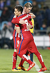 Atletico de Madrid's Fernando Torres (l) and Matias Kranevitter during La Liga match. February 14,2016. (ALTERPHOTOS/Acero)