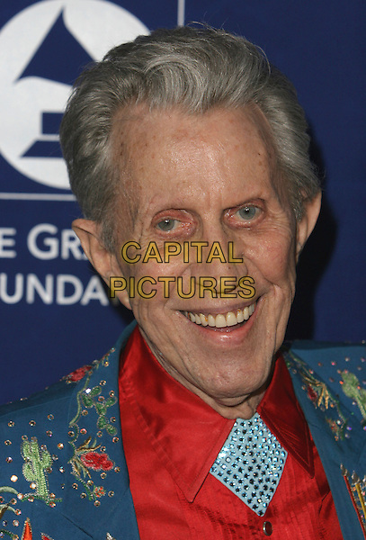 """PORTER WAGONER.The Grammy Foundation presents the 9th Annual Music Preservation Project, """"The Soul Of Country"""" celebrates the Magic and History of Country Music at the Wilshire Ebell Theater, Los Angeles, California, USA..February 8th, 2007.headshot portrait food in teeth.CAP/ADM/CH.©Charles Harris/AdMedia/Capital Pictures"""