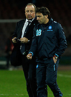 Rafael Benitez Fabio Pecchia<br /> <br />  UEFA Europa League round of 32 second  leg match, betweenAC  Napoli  and Swansea City   at San Paolo stadium in Naples, Feburary 27 , 2014