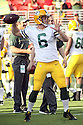 August 26 2016: Quarterback Joe Callahan of the Green Bay Packerswarming up before the Green Bay Packers during a 21-10 victory over the San Francisco 49ers at Levi's Stadium in Santa Clara, Ca.