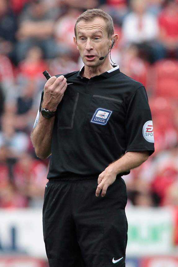 Referee Keith Hill<br /> <br /> Photographer David Shipman/CameraSport<br /> <br /> Football - The Football League Sky Bet Championship - Rotherham United v Cardiff City - Saturday 19th September 2015 - AESSEAL New York Stadium - Rotherham<br /> <br /> &copy; CameraSport - 43 Linden Ave. Countesthorpe. Leicester. England. LE8 5PG - Tel: +44 (0) 116 277 4147 - admin@camerasport.com - www.camerasport.com
