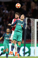 Lasse Schone of Ajax and Christian Eriksen of Tottenham Hotspur during AFC Ajax vs Tottenham Hotspur, UEFA Champions League Football at the Johan Cruyff Arena on 8th May 2019