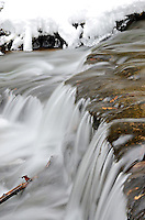 A detailed image of Wagner Falls located in Munising, MI