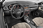 High angle dashboard view of a 2009 Mazda3 5-Door Sport