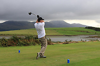 Padraic Clince (Enniscrone) on the 15th during the Final of the Junior Cup in the AIG Cups & Shields Connacht Finals 2019 in Westport Golf Club, Westport, Co. Mayo on Thursday 8th August 2019.<br /> <br /> Picture:  Thos Caffrey / www.golffile.ie<br /> <br /> All photos usage must carry mandatory copyright credit (© Golffile | Thos Caffrey)