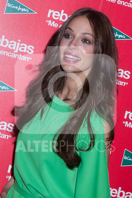28.06.2012. The model Eva Gonzalez and the manager advertising of El Corte Ingles Javier Aguado  attend the presentation of the campaign for the 2012 summer sales in El Corte Ingles of Castellana in Madrid. In the image Eva Gonzalez (Alterphotos/Marta Gonzalez)