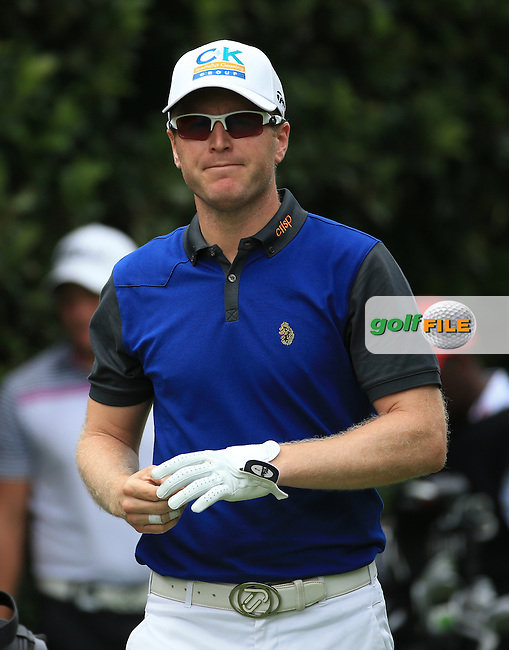 Matt Ford (ENG) heads down the 15th on the West Course during Round 2 of the 2016 Joburg Open Celebrating 10 years, played at the Royal Johannesburg and Kensington Golf Club, Gauteng, Johannesburg, South Africa.  15/01/2016. Picture: Golffile | David Lloyd<br /> <br /> All photos usage must carry mandatory copyright credit (&copy; Golffile | David Lloyd)