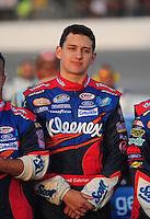 May 2, 2008; Richmond, VA, USA; NASCAR Nationwide Series driver Brad Coleman during the Lipton Tea 250 at the Richmond International Raceway. Mandatory Credit: Mark J. Rebilas-