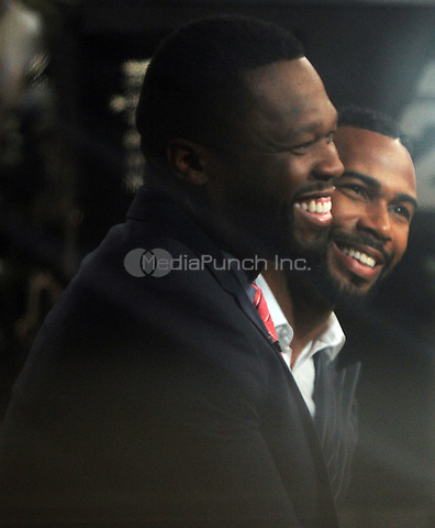 NEW YORK, NY-July 05: 50 Cent, Omari Hardwick at Good Morning America to talk about the new season of Power in New York. NY July 05, 2016. Credit:RW/MediaPunch