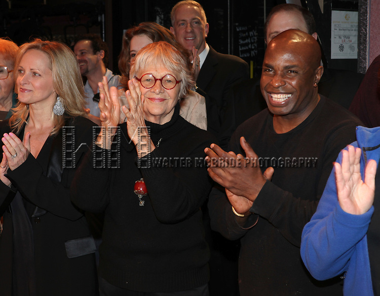 Estelle Parsons & Stanley Wayne Mathis.attending the Broadway Opening Night Performance Gypsy Robe Ceremony for 'Nice Work If You Can Get it' at the Imperial Theatre on 4/24/2012 at the Imperial Theatre in New York City. © Walter McBride/WM Photography / Retna Ltd.