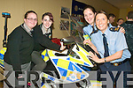 GARDA CAREER: Elaine Dold and Caitriona Ni Shuilleabhain from Gaelcholaiste Chiarrai were interested to hear what Community Gardai Patricia Fitzpatrick and Emma Mullane had to say at the Careers Fair in the Brandon Hotel on Tuesday.