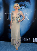 Actress Gwendoline Christie at the season seven premiere for &quot;Game of Thrones&quot; at the Walt Disney Concert Hall, Los Angeles, USA 12 July  2017<br /> Picture: Paul Smith/Featureflash/SilverHub 0208 004 5359 sales@silverhubmedia.com