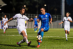 SC Kitchee Defender Kin Man Tong (R) in action against Kwok Wai Leung of Dreams FC (L) during the week two Premier League match between Kitchee and Dreams FC at on September 10, 2017 in Hong Kong, China. Photo by Marcio Rodrigo Machado / Power Sport Images