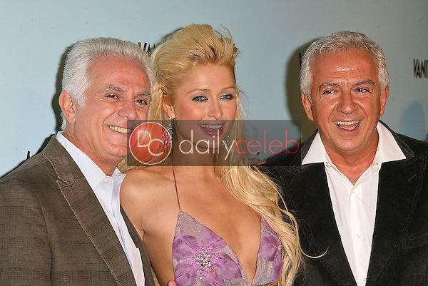 Paul Marciano, Paris Hilton and Maurice Marciano