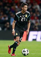 Argentina's Maximiliano Meza during international friendly match. March 27,2018. *** Local Caption *** © pixathlon<br /> Contact: +49-40-22 63 02 60 , info@pixathlon.de