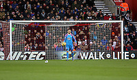 Pictured: Lukasz Fabianski, goalkeeper for Swansea Sunday 01 February 2015<br />