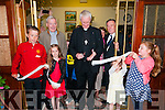 North Kerry Museum : Bishop of Kerry, Bishop Ray Browne cutting the tape at the official opening of the North Kerry Museum, Ballyduff on Sunday evening with Fr. Brendan Walsh & Sean Quinlan.