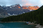 MORRAINE LAKE, BANFF NATIONAL PARK, ALBERTA, CANADA