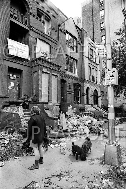 New York City, October 1975. West 95th Street. Economic depression in NYC.