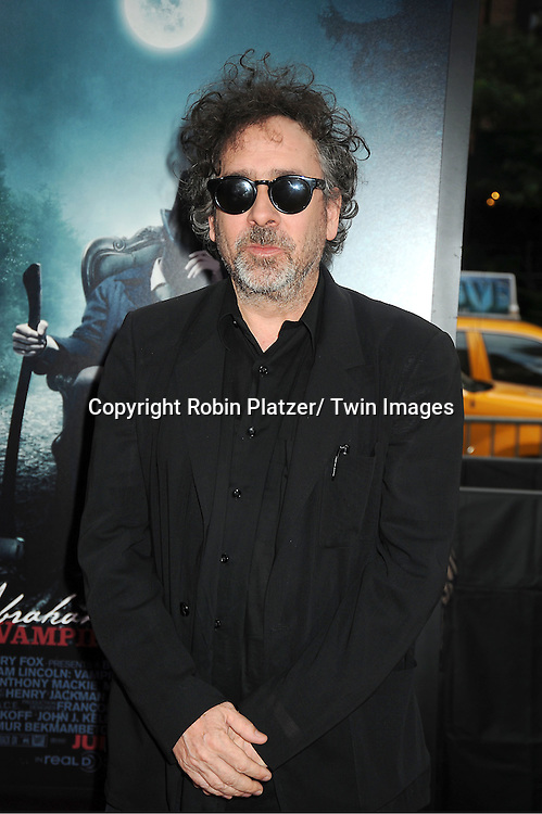 "Tim Burton attends the ""Abraham Lincoln: Vampire Hunter""  Movie Premiere on June 18, 2012 at The AMC  Loews Lincoln Square in New York City."