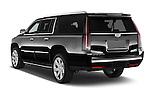 Car pictures of rear three quarter view of 2017 Cadillac Escalade-ESV Luxury 5 Door SUV Angular Rear