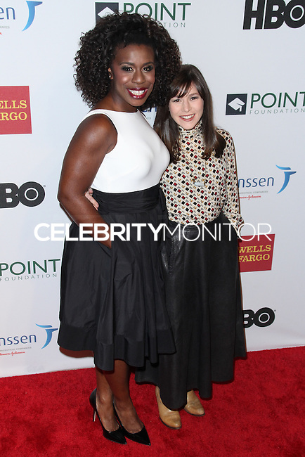 NEW YORK CITY, NY, USA - APRIL 07: Uzo Aduba, Yael Stone at the Point Honors New York Gala 2014 held at the New York Public Library on April 7, 2014 in New York City, New York, United States. (Photo by Jeffery Duran/Celebrity Monitor)