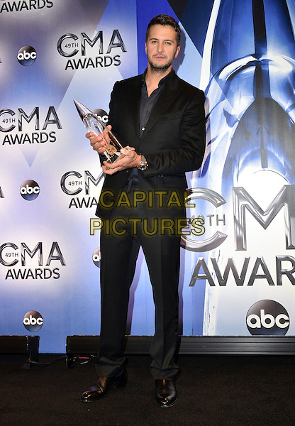 04 November 2015 - Nashville, Tennessee - Luke Bryan. 49th Annual CMA Awards, CMA Awards 2015, Country Music's Biggest Night, held at Bridgestone Arena. <br /> CAP/ADM<br /> &copy;ADM/Capital Pictures