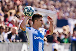 Unai Bustinza of CD Leganes during La Liga match between CD Leganes and Real Betis Balompie at Butarque Stadium in Leganes, Spain. February 16, 2020. (ALTERPHOTOS/A. Perez Meca)