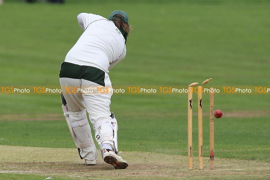 R Hyde of Harold Wood is bowled out by L Lambert - Harold Wood CC vs Basildon & Pitsea CC - Essex Cricket League - 28/08/10 - MANDATORY CREDIT: Gavin Ellis/TGSPHOTO - SELF-BILLING APPLIES WHERE APPROPRIATE. NO UNPAID USE. TEL: 0845 094 6026