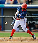 14 March 2008: Washington Nationals' outfielder Willie Harris in action during a Spring Training game against the Cleveland Indians at Space Coast Stadium, in Viera, Florida. The Nationals defeated the visiting Indians 8-4 as both teams fielded split squads home and away...Mandatory Photo Credit: Ed Wolfstein Photo