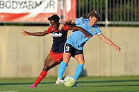 Boyds, MD - Saturday June 25, 2016: Francisca Ordega, Christie Rampone during a United States National Women's Soccer League (NWSL) match between the Washington Spirit and Sky Blue FC at Maureen Hendricks Field, Maryland SoccerPlex.