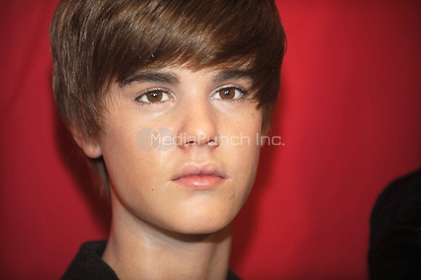 Justin Bieber Wax Figure at Madame Tussaud's in New York City. March 15, 2011. Credit: Dennis Van Tine/MediaPunch