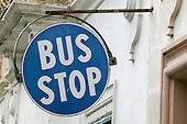 Bus Stop Signs in Malta