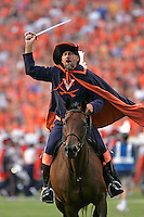 The Virginia Cavalier mascot at the University of Virginia in Charlottesville, VA. Photo/Andrew Shurtleff.