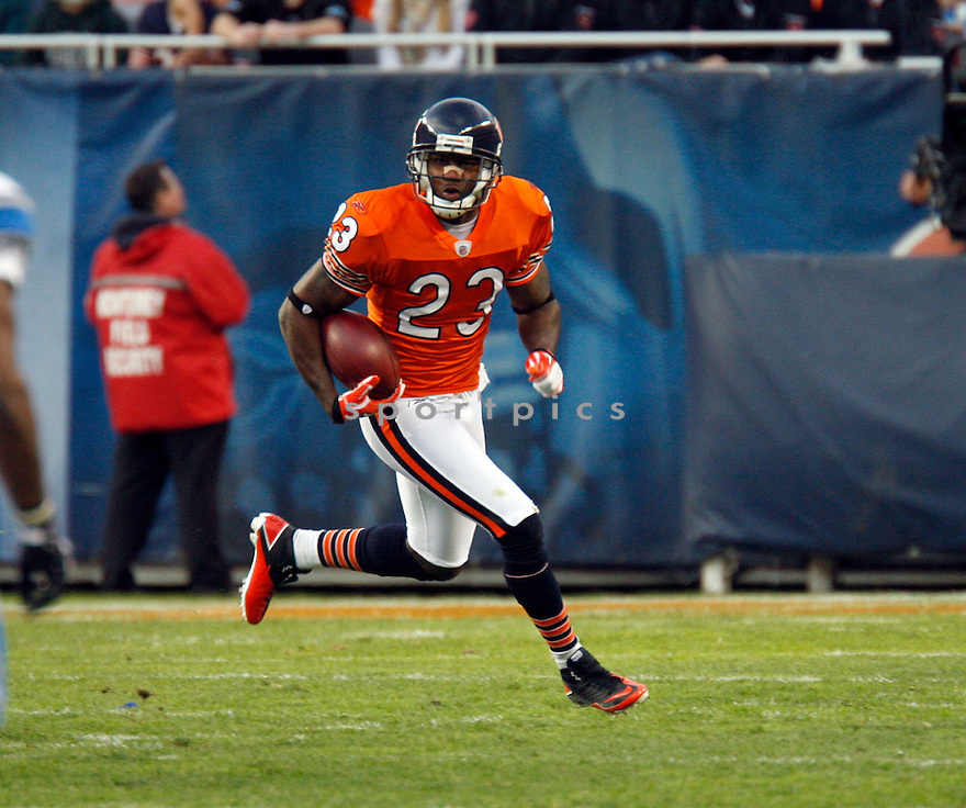 DEVIN HESTER, of the Chicago Bears, in action during the Bears game against the Detroit Lions on November 13, 2011 at Soldier Field in Chicago, IL. The Bears beat the Lions 37-13.