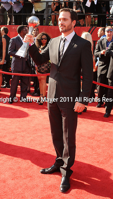 LOS ANGELES, CA - JULY 13: Jimmie Johnson  arrives at the 2011 ESPY Awards at Nokia Theatre L.A. Live on July 13, 2011 in Los Angeles, California.