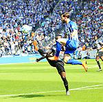12.05.2018, OLympiastadion, Berlin, GER, 1.FBL, Hertha BSC VS. RB Leipzig, im Bild <br /> Marvin Plattenhardt (Hertha BSC Berlin #21), Naby Keita (RB Leipzig #8)<br /> <br /> <br />       <br /> Foto &copy; nordphoto / Engler
