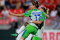 VfL Wolfsburg's Alexandra Popp (r) and Ewa Pajor celebrate goal during UEFA Womens Champions League 2017/2018, 1/16 Final, 1st match. October 4,2017. (ALTERPHOTOS/Acero) /NortePhoto.com /NortePhoto.com