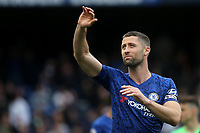 Gary Cahill of Chelsea acknowledges the support from  the home fans as he walks around the pitch after the game during Chelsea vs Watford, Premier League Football at Stamford Bridge on 5th May 20199
