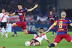 Sergio Busquets (Barcelona), <br /> DECEMBER 20, 2015 - Football / Soccer : <br /> FIFA Club World Cup Japan 2015 <br /> Final match between River Plate 0-3 Barcelona  <br /> at Yokohama International Stadium in Kanagawa, Japan.<br /> (Photo by Yohei Osada/AFLO SPORT)