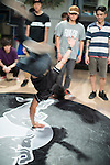 B-Boys compete at the Pre-Qualifier for the 2012 Red Bull BC One Hong Kong Cypher, held at the Hong Kong China Calligraphy & Arts Centre. Photo © Raf Sanchez / The Power of Sport Images for Red Bull