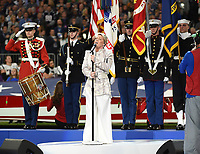 MINNEAPOLIS, MN - FEBRUARY 4: Pink sings the national anthem at Super Bowl LII at  U.S. Bank Stadium on February 4, 2018 in Minneapolis, Minnesota. (Photo by Frank Micelotta/PictureGroup)