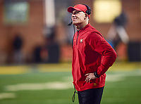 College Park, MD - NOV 25, 2017: Maryland Terrapins head coach DJ Durkin on the sidelines during game between Maryland and Penn State at Capital One Field at Maryland Stadium in College Park, MD. (Photo by Phil Peters/Media Images International)